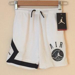 Nike Jordan toddler mesh white basketball shorts